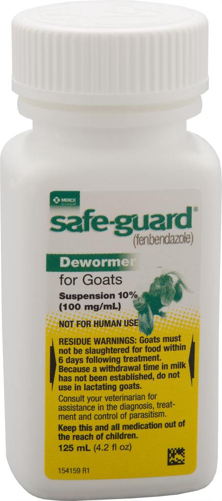 125 mL bottle of Safe-Guard Goat Suspension