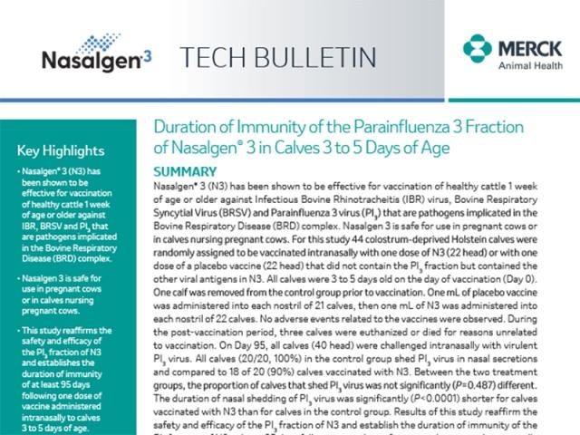 Nasalgen Tech Bulletin