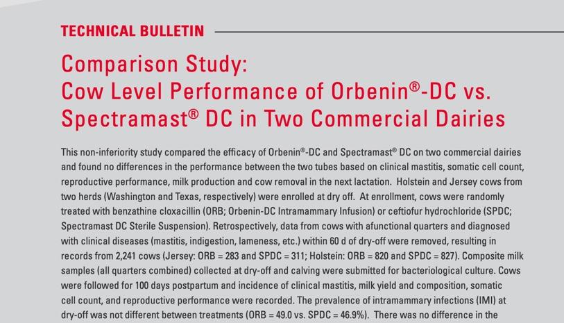 Orbenin DC Technical Bulletin